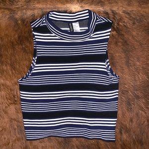 H&M Striped Crop Top